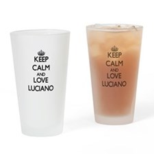 Keep Calm and Love Luciano Drinking Glass