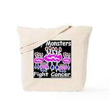 buy_monsters_fight_cancer_invertpinkredey Tote Bag