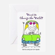 Change_World_Turnsignals_Color Greeting Card