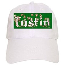 tustin christmas city round ornament Baseball Cap