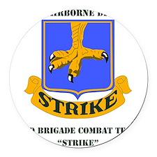 101st ab div 2nd Brigade Combat T Round Car Magnet