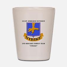 101st ab div 2nd Brigade Combat Team WI Shot Glass