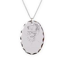 Poe zombie Necklace Oval Charm