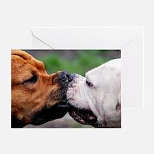 Pit Bulls L print Greeting Card