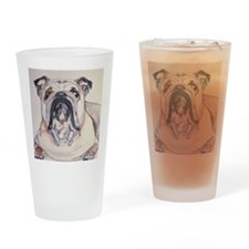 Bull Dog Drinking Glass