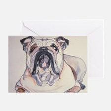 Bull Dog Greeting Card