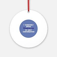 Minnesotan Button Round Ornament