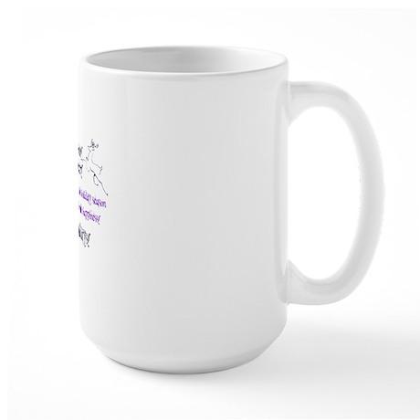 purple wreath inside card copy Large Mug