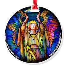 blue_round_tiffany_angel_white Ornament