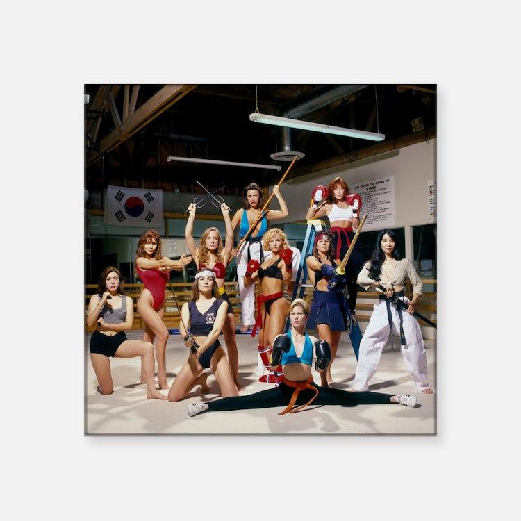 "Karate Angels Calendar grou Square Sticker 3"" x 3"""