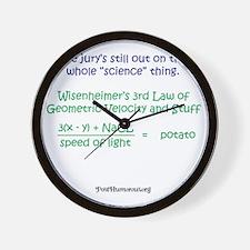 science Wall Clock
