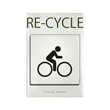 Re-Cycle Rectangle Magnet