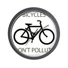 Bicycles-Dont-Pollute Wall Clock