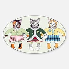 3 little kittens - pc Sticker (Oval)