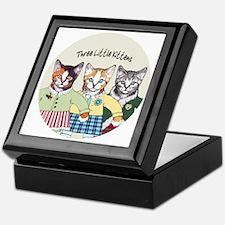 3 little kittens B - xmas ornament Keepsake Box