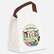 3 little kittens B - xmas ornamen Canvas Lunch Bag