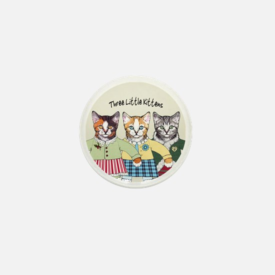 3 little kittens B - xmas ornament Mini Button