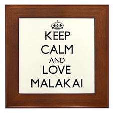 Keep Calm and Love Malakai Framed Tile