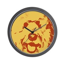 goldenDoodle_2tone_type1 Wall Clock