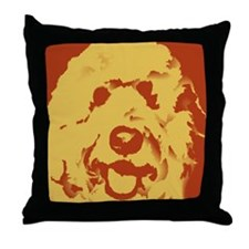 goldenDoodle_2tone_type1 Throw Pillow