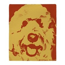 goldenDoodle_2tone_type1 Throw Blanket