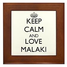 Keep Calm and Love Malaki Framed Tile