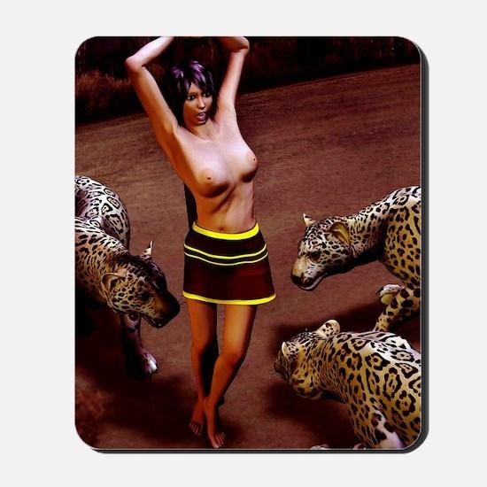 Sacrifice to the Jaguar God Mousepad