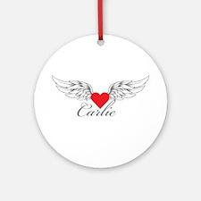 Angel Wings Carlie Ornament (Round)