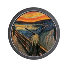 The_Scream_Poster Wall Clock