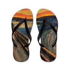 The_Scream_Poster Flip Flops
