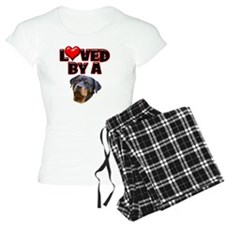 Loved by a Rottweiler 3 Pajamas