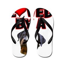 Loved by a Rottweiler 3 Flip Flops
