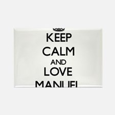 Keep Calm and Love Manuel Magnets