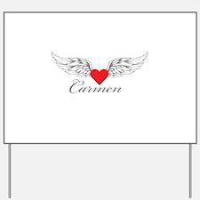 Angel Wings Carmen Yard Sign