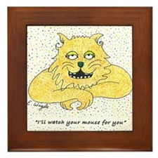 CP cat and mouse30010x10 Framed Tile