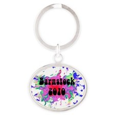 try again Oval Keychain