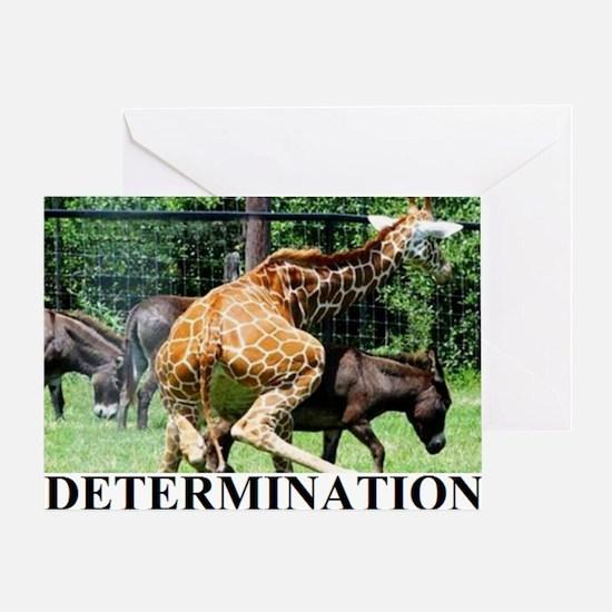 DETERMINATION1 Greeting Card