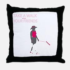 AwalkWithFriends Throw Pillow