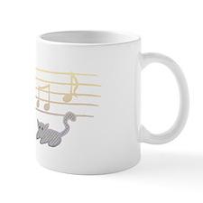 graykittynotesblack Mug