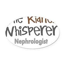 The kidney whisperer Oval Car Magnet
