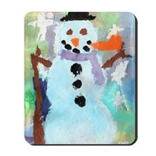 Coles Snowman copy Mousepad