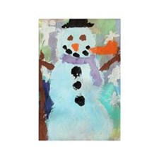 Coles Snowman copy Rectangle Magnet