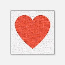 "Heart Mosaic Hexagons Square Sticker 3"" x 3"""