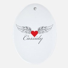 Angel Wings Cassidy Ornament (Oval)