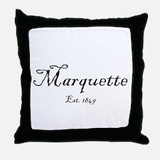 MqtEst.1871BlkTxt.gif Throw Pillow