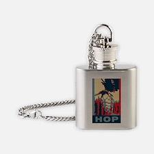 hop(obamacon)big2 Flask Necklace