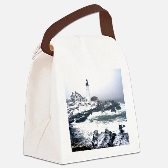 PortlandHeadlight3 Canvas Lunch Bag
