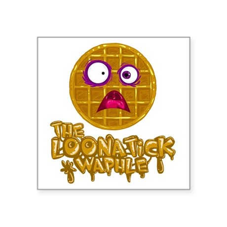 """Loonatick Waphle Logo (Comb Square Sticker 3"""" x 3"""""""