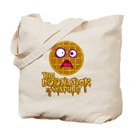 Loonatick Waphle Logo (Combined) Tote Bag