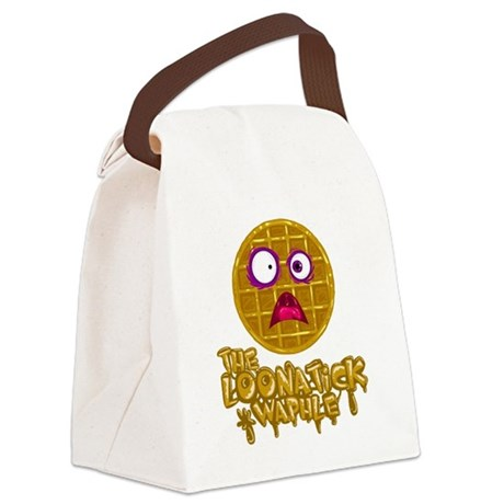 Loonatick Waphle Logo (Combined) Canvas Lunch Bag